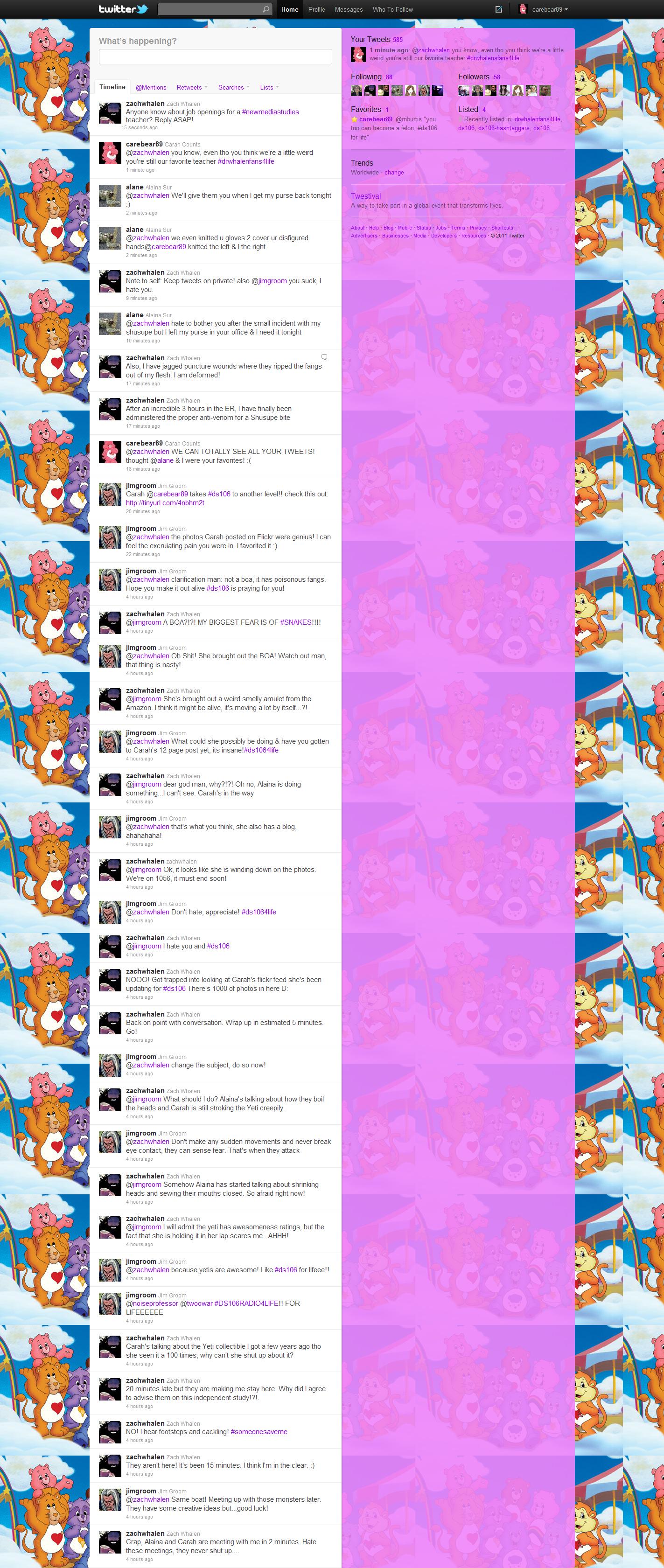 Zach Whalen Twitter Story