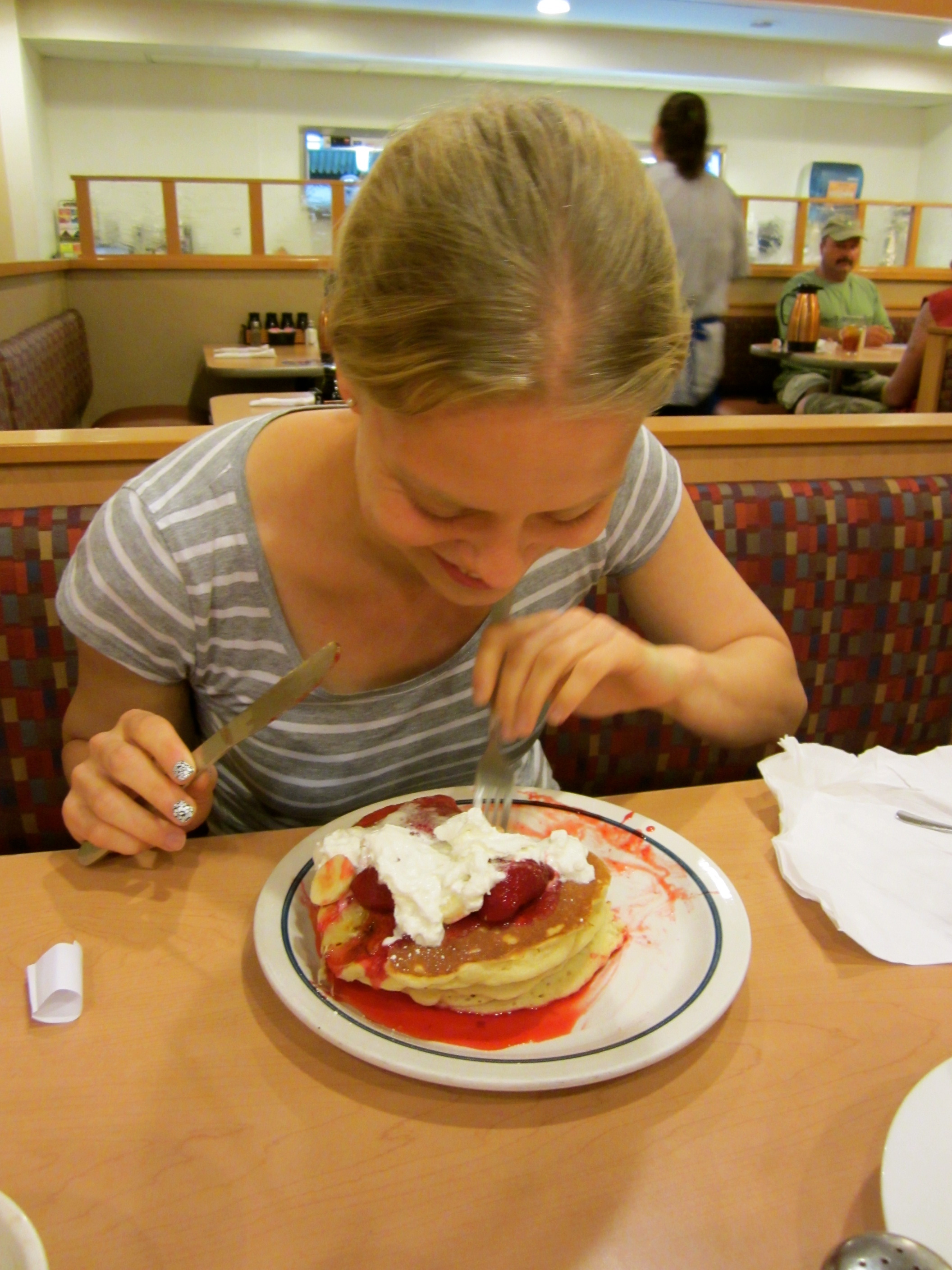 First time at Ihop for Sabine!