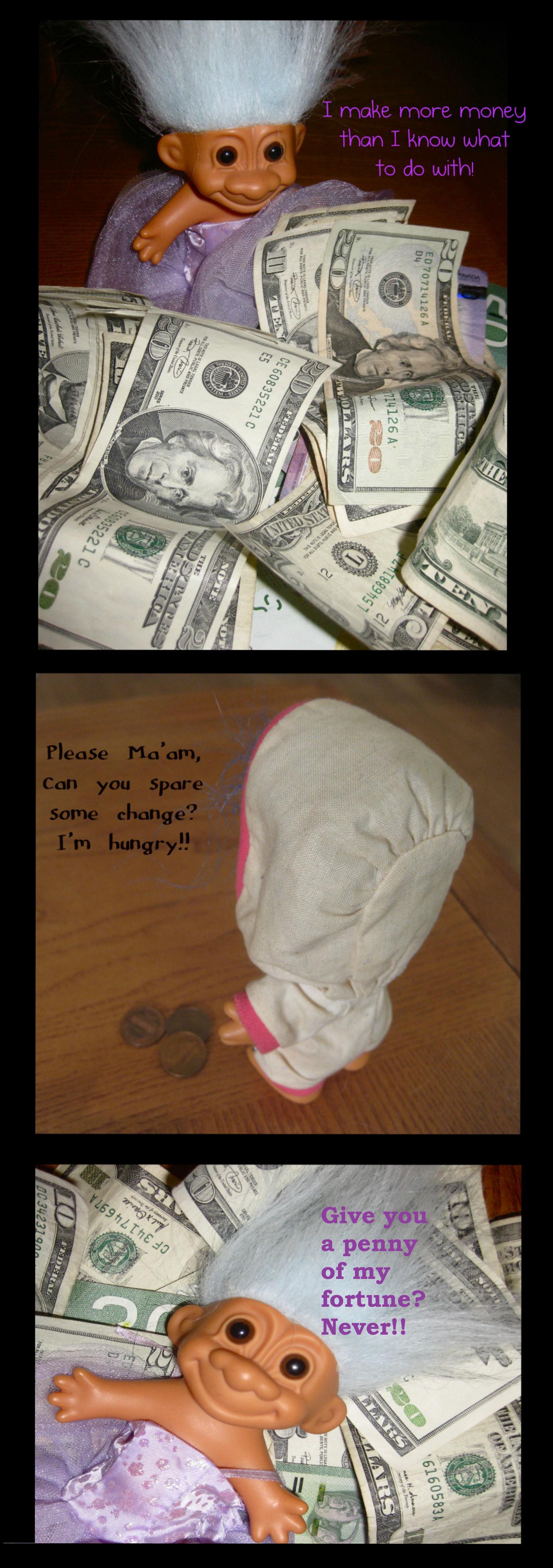 greedy troll